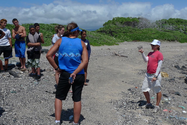 Megan Lamson (Hawai'i Wildlife Fund) explains where the trash comes from