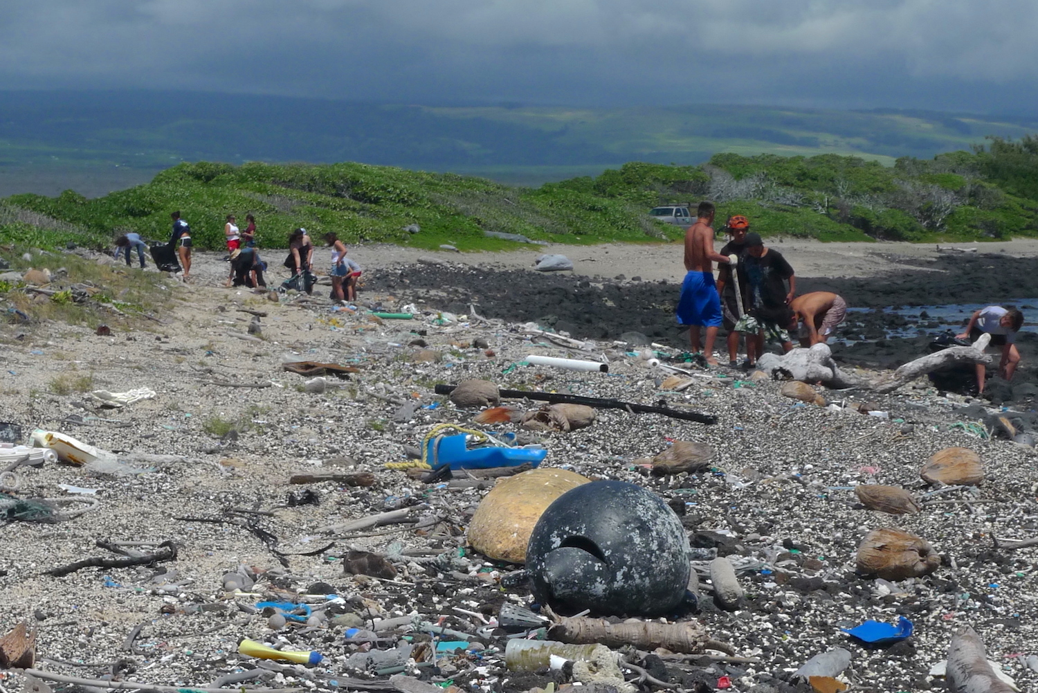 Kamilo is famous for large amounts of plastic that wash up here.