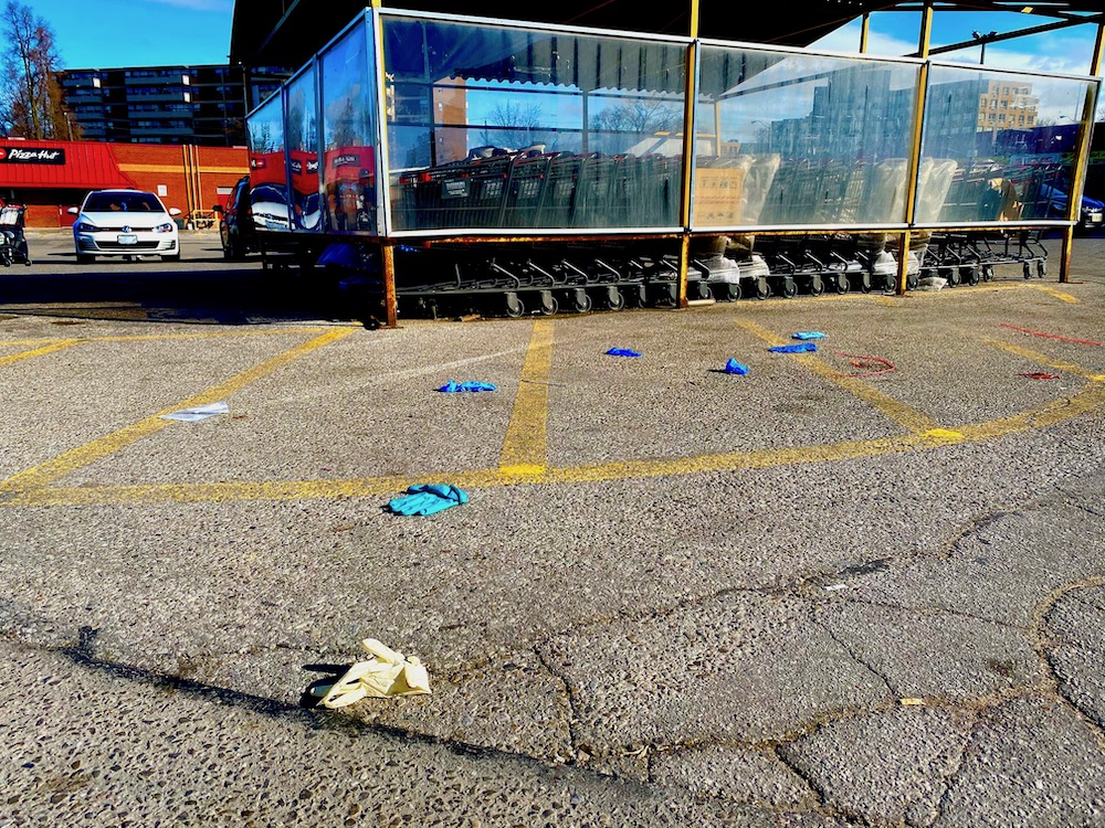 Supermarket parking lot in Toronto, photographed by Justine Ammendolia