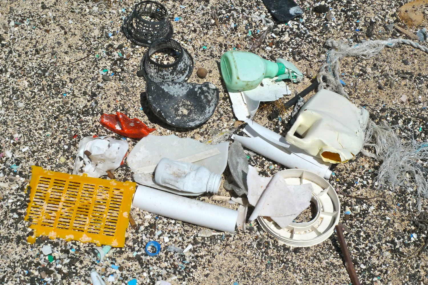 Plastic at Kamilo Beach, Big Island, Hawaii