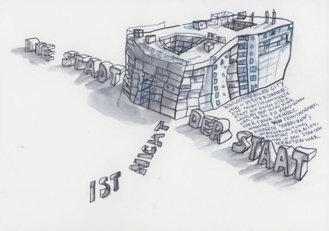 """Kowloon Walled City in """"Die Stadt ist unsere Fabrik"""" von Christoph Schäfer"""